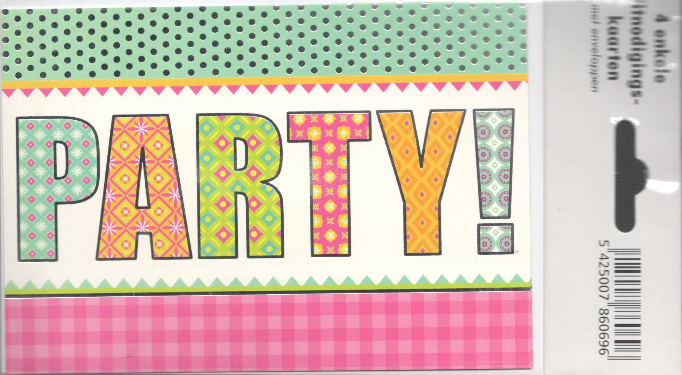 PARTY uitnodigingen