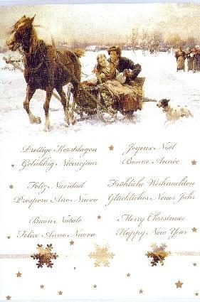 meertalig kerstkaartje