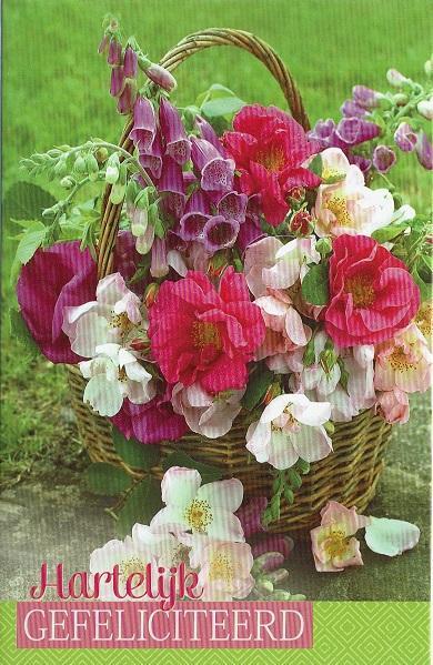 hartelijk gefeliciteerd met bloemen