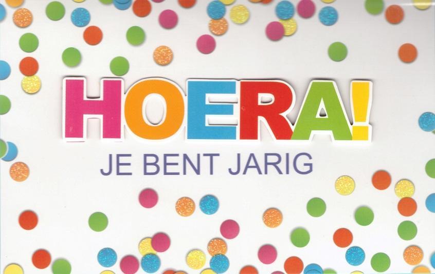 hoera is jarig Verjaardagskaartje HOERA online bestellen bij wenskaartenshop hoera is jarig