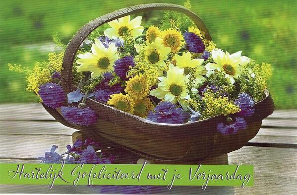 Kaartjes Voor Vrouw Met Bloemen