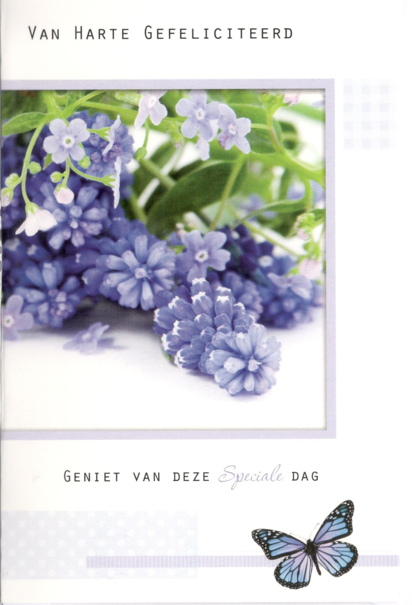 Wenskaart met bloemen mooie tekst