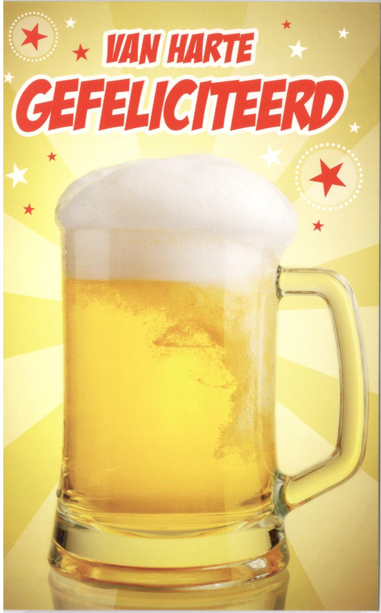 gefeliciteerd met biertje