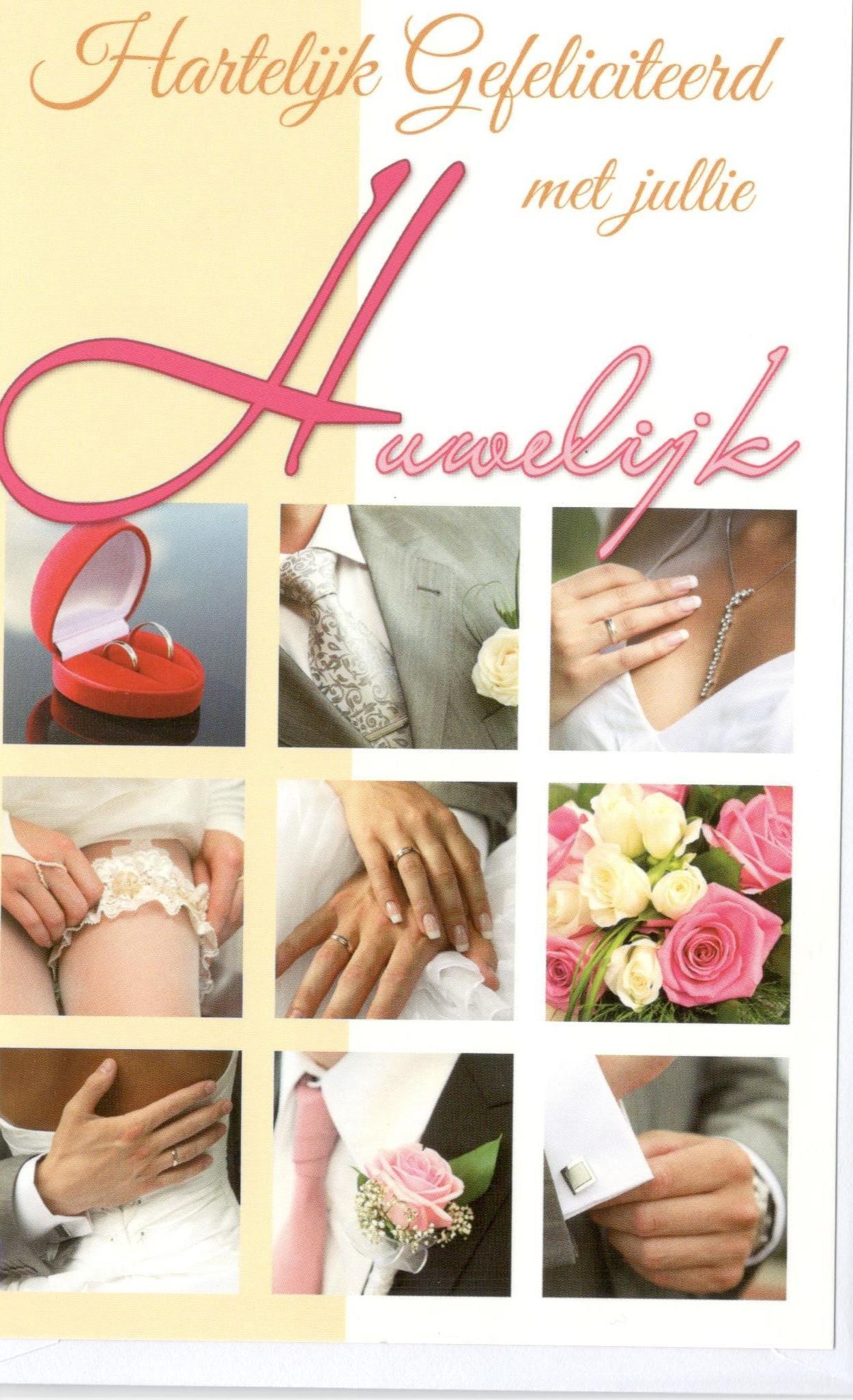 Felicitatiekaart voor een bruiloft