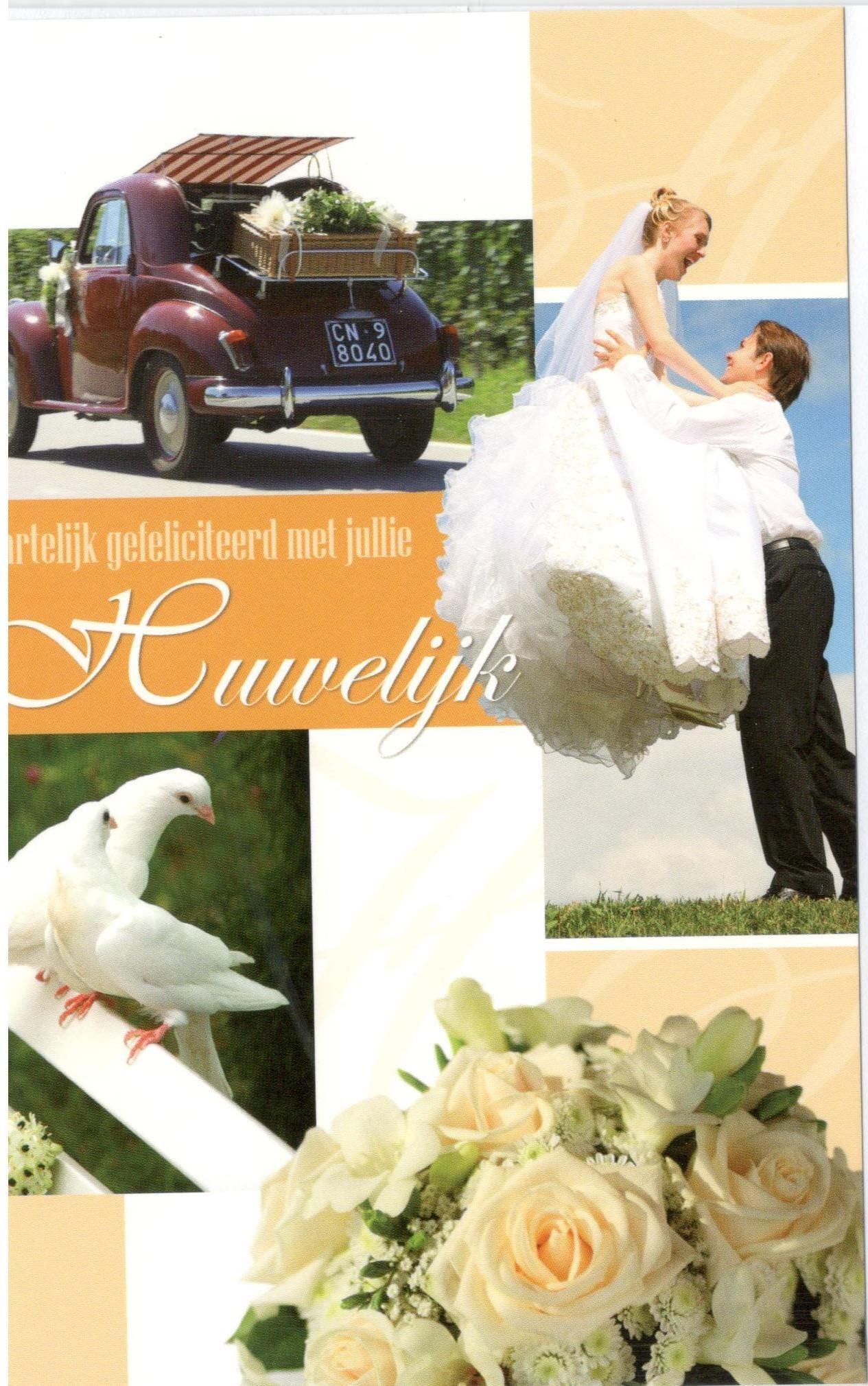 Felicitatiekaart voor een huwelijk