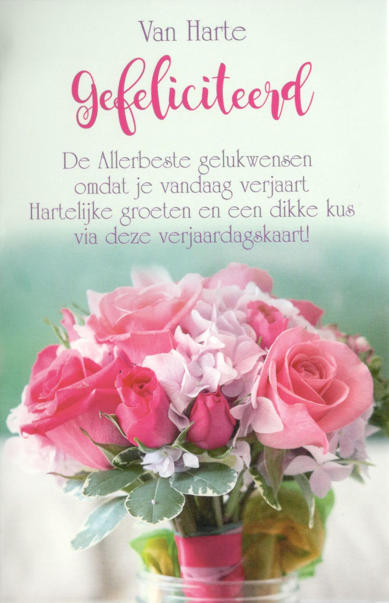 verjaardagskaart vrouw Mooie verjaardagskaarten met bloemen en tekst verjaardagskaart vrouw
