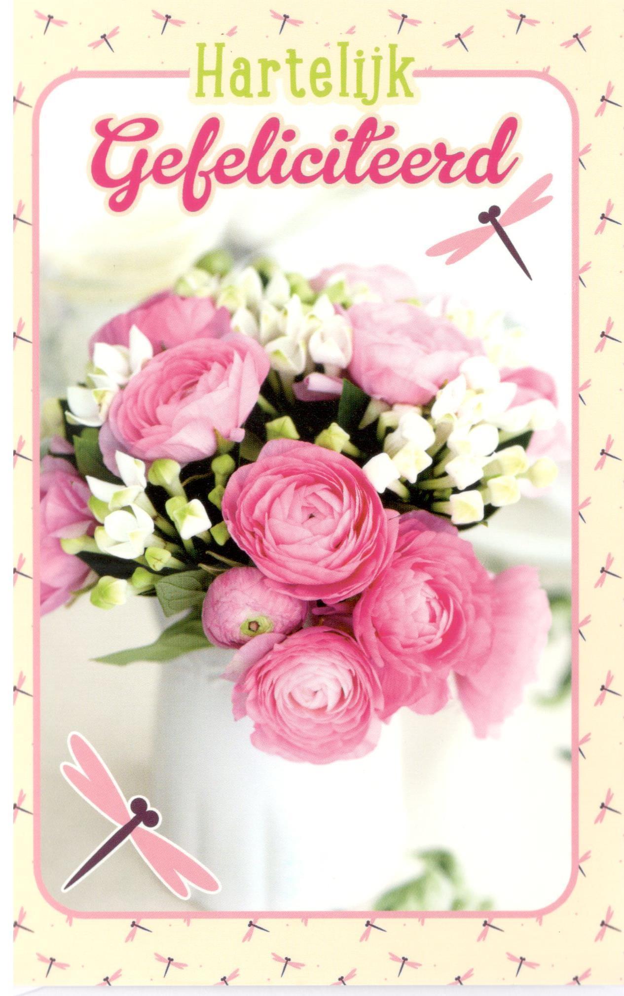 gefeliciteerd bloemen foto