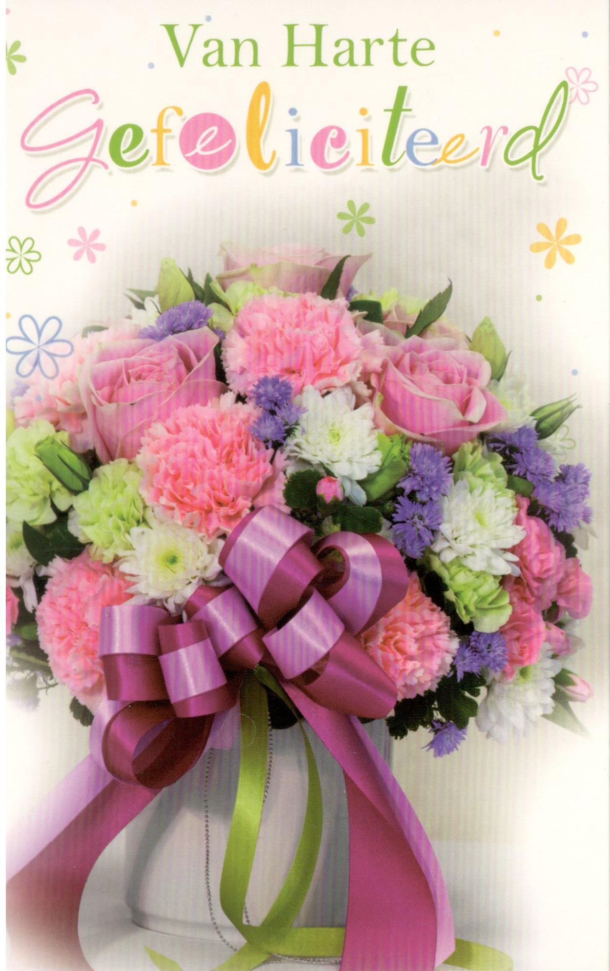 van harte gefeliciteerd bloemen Goedkope losse wenskaarten per set aankopen van harte gefeliciteerd bloemen