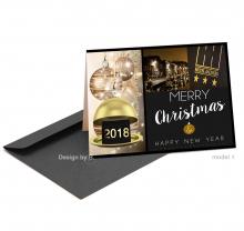 Zakelijke Kerst en Nieuwjaarskaart voor hotel business.