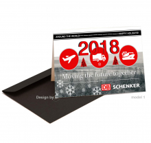 Zakelijke Nieuwjaarskaart voor logistiek bedrijf.