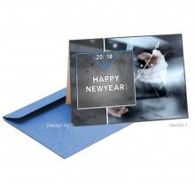 Zakelijke Nieuwjaarskaart volgens de huisstijl van het consultancy bureau.
