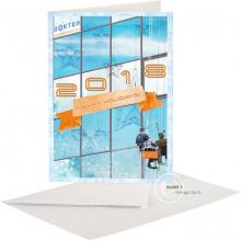 Zakelijke Nieuwjaarskaart volgens de activiteiten en het imago ven het bedrijf.