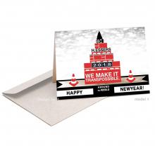 Zakelijke abstracte Nieuwjaarskaart in match met de diensten van het bedrijf.