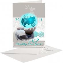 Neutrale Kerst en Nieuwjaarskaart voor de medische/pharmacie sector.