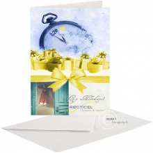 Zakelijke Kerst en Nieuwjaarskaart voor textiel/cellulose bedrijf.