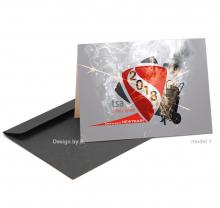 Zakelijke Nieuwjaarskaart voor brandbeveiliging bedrijf.