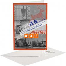 Moderne Zakelijke Nieuwjaarskaart voor uitzendkantoor.