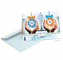 Frisse nieuwjaarskaart voor poetsbedrijf om medewerkers het beste voor het nieuwe jaar te wensen.