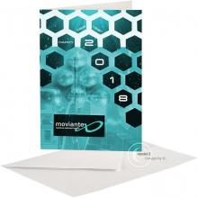 Happy New Year zakelijke kaart met abstracte achtergrond.