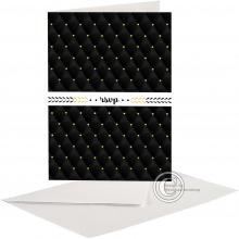Stijlvolle Black & White Huwelijkskaart voor plaatsing foto en tekst.
