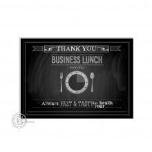 Bedankt A6 kaart krijtbord voor horeca zaken.