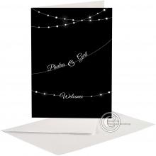 Moderne Huwelijkskaart/Uitnodiging met plaats voor foto.