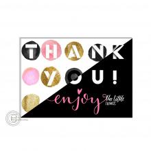 Thank You postkaart voor webshops.