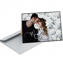 Romantische neutrale Huwelijkskaart/Uitnodiging.