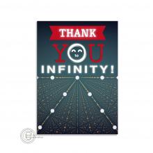 Thank You to Infinity postkaart voor bedrijven/webshops.