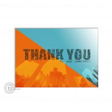 Zakelijke Thank You word cloud postkaart.