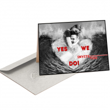 Huwelijkskaart met opschrift Yes We Do.