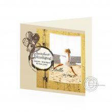 Toffe Uitnodigingskaart voor Lentefeest met frame voor foto.