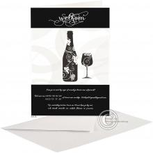Uitnodigingskaart voor degustatie.