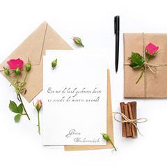je kaarten en enveloppen laten schrijven
