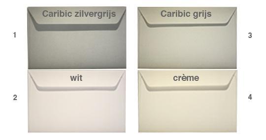 4 verschillende soorten enveloppen