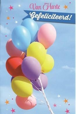 wenskaart man met ballonnen
